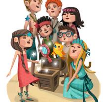 Empieza la aventura (Turismo de Canarias). A Illustration project by Montse Casas Surós - Jul 28 2015 12:00 AM
