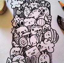 Enganchandome al doodle.... Um projeto de Design gráfico de monica perez         - 29.07.2015