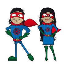 Súper Héroes Gitanos. Um projeto de Ilustração de Silvia Quintanilla - 03-08-2015