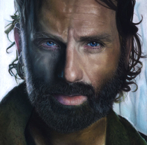 Retrato a pastel de Andrew Lincoln (Rick Grimes en Wlaking Dead) . A Illustration, Fine Art, and Painting project by Adrián Durá Reina         - 05.08.2015