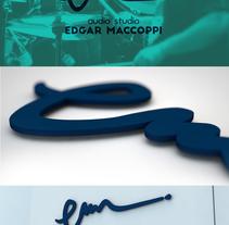 Audio Studio - Edgar Maccoppi. Un proyecto de Br e ing e Identidad de Junior Vendrami - 17-08-2015