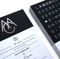 Wedding Invitation MC. A Br, ing, Identit, and Graphic Design project by Carles Ivanco Almor         - 15.08.2015