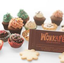Wonkafé Cafetería-Pastelería. Un proyecto de Br, ing e Identidad y Diseño gráfico de Gema Sahuquillo         - 11.06.2012