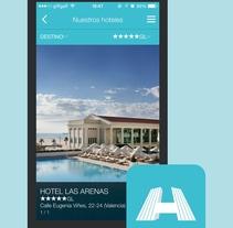 Hoteles Santos - Aplicación móvil para una compañía de hoteles. Un proyecto de UI / UX y Diseño Web de Diego García de Enterría Díaz - 30-08-2015