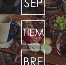 1  de Septiembre. Un proyecto de Diseño y Diseño gráfico de María Bravo Guisado         - 31.08.2015