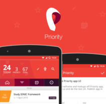 Priority APP. A Interactive Design, and UI / UX project by Jokin Lopez - Sep 02 2015 12:00 AM