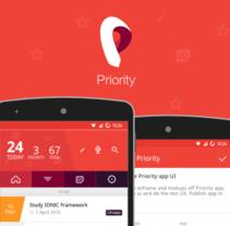 Priority APP. Um projeto de UI / UX e Design interativo de Jokin Lopez         - 01.09.2015
