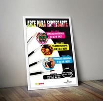"""Cartel """"Arte para expresarte"""". Um projeto de Publicidade, Educação e Design gráfico de Alex Goienetxea - 05-10-2014"""