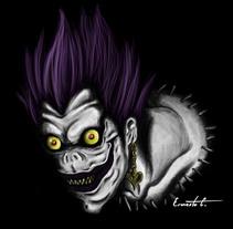 """Fan art Ryuk, shinigami """"Death Note"""". Um projeto de Ilustração de Ernesto Cifuentes C         - 03.09.2015"""