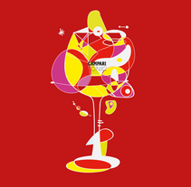 CAMPARI TONIC. A Illustration project by Aitor Lains Mendez - 22-07-2015