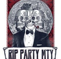 Poster RIP Party Mty. Un proyecto de Ilustración, Bellas Artes y Collage de Escareno         - 16.09.2015