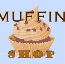 """Diseño de imagen """"Muffin shop"""".. A Design project by Cienwebs         - 20.09.2015"""