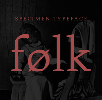 Folk Font. A T, and pograph project by Daniel Vidal - 24-09-2015
