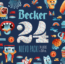 PACK 24 CERVEZA BECKER. A Design, Illustration, Advertising, Br, ing, Identit, Character Design, Packaging, Product Design, and Video project by Juan Díaz-Faes - 06-10-2015