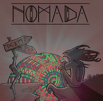 Portada NÓMADA (demo). A Illustration, and Graphic Design project by Juls Benot         - 30.09.2015