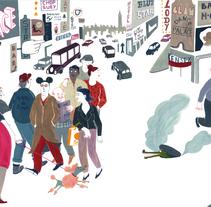 El cocodrilo que buscaba el Nilo.. Un proyecto de Ilustración de Iratxe López de Munáin - Viernes, 30 de octubre de 2015 00:00:00 +0100