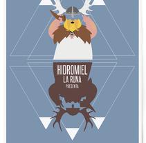 Cartel fiesta vikinga, La Runa Hidromiel.. A Illustration, and Graphic Design project by Uri          - 29.10.2015