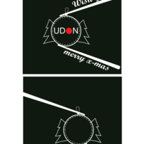 Staff winter t-shirt . UDON Restaurant . 2 possible designs. A Graphic Design project by Anna Gonzàlez I Forns         - 02.11.2015