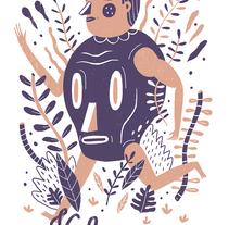 ITZMIN T-SHIRT. A Design, Character Design, Costume Design, Illustration, Fashion, and Screen-printing project by Arantxa Recio Parra - Nov 07 2015 12:00 AM
