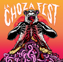 La Choza Fest 2015. A Illustration, and Graphic Design project by Mentecalamar Studio  - 30-06-2015