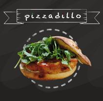 imagen para restaurante pizzadillo. Um projeto de Design gráfico de victorcarba         - 09.11.2015