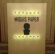 Miguis Paper - Invitaciones de Boda Online y en Papel. A Graphic Design project by César Martín Ibáñez  - Nov 14 2015 12:00 AM