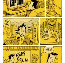 Keep calm (cómic de 2 páginas). Un proyecto de Comic de Alberto Peral Alcón         - 18.11.2015