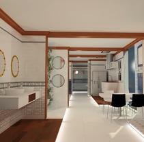 Proyecto Showroom. Modelado 3d e iluminación.. A 3D&Interior Architecture project by Iris Carballo         - 23.11.2015