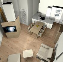 Proyecto Vivienda. Modelado 3d e iluminación.. A 3D&Interior Architecture project by Iris Carballo         - 23.11.2015