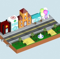 Módulo Virtual Ville. A 3D, Game Design, and Graphic Design project by Almudena Arroyo         - 23.11.2015