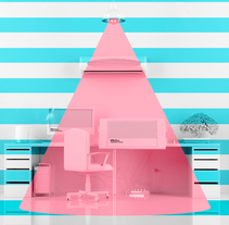 Designer Desk Colorful Tools. A 3D, Animation, Interior Architecture, Art Direction, Design, Graphic Design, Illustration, and Motion Graphics project by Melo  - Dec 01 2015 12:00 AM