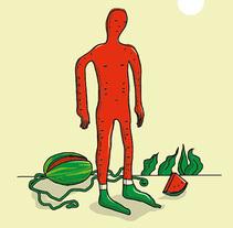 """""""Señor Sandía"""". Um projeto de Ilustração de Chuy Velez - 04-12-2015"""