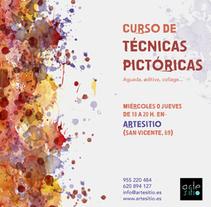 Cartel Técnicas Pictóricas. Un proyecto de Br, ing e Identidad y Diseño gráfico de Rocío González         - 31.08.2015