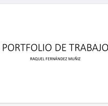 PORTFOLIO de trabajos . Um projeto de Design de Raquel Fernandez         - 13.12.2015