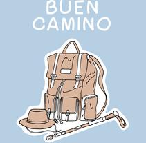 Buen Camino por Gema Sahuquillo. . Um projeto de Ilustração, Design de personagens, Design editorial, Design gráfico e História em quadrinhos de Gema Sahuquillo         - 14.12.2015