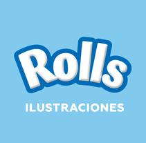 Post para Rolls (Ilustraciones con empaque). A Design, Illustration, Advertising, Br, ing&Identit project by Juan Pablo Rabascall Cortizzos         - 17.12.2015