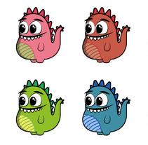 Ilustración para cojín infantil DRAKO. Um projeto de Design, Ilustração e Design de personagens de Milimetriko Web & Diseño         - 24.12.2015