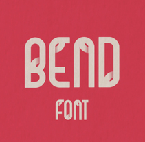 BEND FONT. A Design, T, and pograph project by cristina_cas003         - 26.12.2015