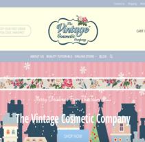 The Vintage Cosmetic London. Un proyecto de Desarrollo de software, Diseño Web y Desarrollo Web de Antonio M. López López - 27-09-2015