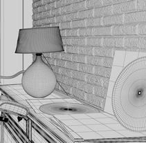 Interior Pared Ladrillo. A 3D, Architecture&Interior Architecture project by Moises Calderon Basto         - 29.12.2015