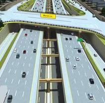 LBJ Express Fly-over. Un proyecto de 3D, Arquitectura, Multimedia, Vídeo e Infografía de Samuel Segura Pareja         - 21.05.2013