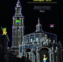 Cartel Metropoli 2015 Gijon (Asturias). Un proyecto de Diseño gráfico de Marcos Flórez Tascón         - 12.01.2016