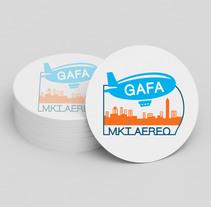 Diseño de Logotipo Gafa Mkt Aereo. Un proyecto de Diseño de Julieta Almaraz         - 07.01.2016