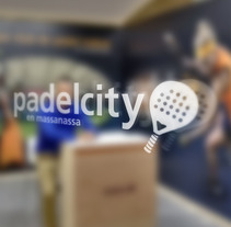 Stand Design Padelcity in the World Padel Tour. A Br, ing, Identit, and Graphic Design project by Sandra Mora Ayala - 09-01-2016