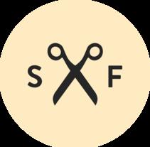 Logotipo para Sax&Fön. Un proyecto de Br, ing e Identidad y Diseño gráfico de Hector Romo         - 26.04.2015