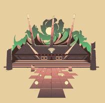 Templo WiFi - Luxoft. Um projeto de Design, Ilustração e Design gráfico de Cristian Eres         - 10.01.2016