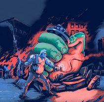 Mad max riot. Un proyecto de Diseño, Ilustración, Publicidad, Diseño de personajes, Bellas Artes, Diseño gráfico, Pintura, Comic y Cine de Gabriel Navarro Romero - 11-01-2016