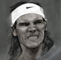 Rafael Nadal. Digital. A Design, Illustration, Character Design, Fine Art, Graphic Design, Lighting Design, and Painting project by BORCH         - 13.01.2016
