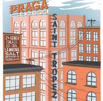 Cartel PRAGA + SAINT TROPEZ. Un proyecto de Ilustración de Xavier Calvet Sabala         - 06.01.2015