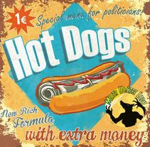 HotDogs. A Design, Illustration, Cooking, and Graphic Design project by MujerHombreLobo         - 22.01.2016